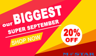 2019 SUPER SEPTEMBER with 20% OFF in HOT NOW
